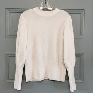 Who What Wear Long Puff Sleeve Crew Neck Sweater